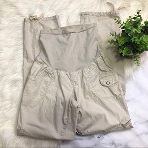 Motherhood Maternity Capri Cargo Pants
